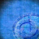 Abstract zodiac clock. Close up stock illustration