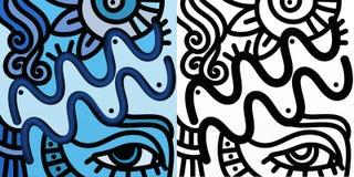 Abstract zodiac sign - Aquarius Royalty Free Stock Image