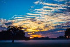 Abstract zonsopganglandschap op het landbouwbedrijf in Florida Stock Afbeeldingen