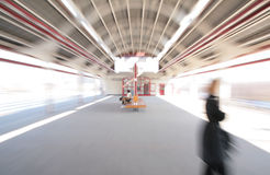 Abstract zoom blur Train station Royalty Free Stock Photos
