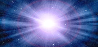 Abstract zoom effect of star light Royalty Free Stock Images