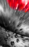 Abstract - zoom-in to drops. An abstract photograph zoomed-in to water drop Stock Photo