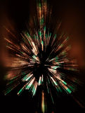 Abstract Zoomed Christmas Tree stock images