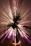 Abstract Zoomed Christmas Tree. Christmas tree lights with an ethereal zooming effect Stock Photo