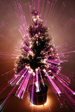 Abstract Zoomed Christmas Tree. Christmas tree lights with an ethereal zooming effect Stock Images