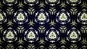 Abstract zwart geel en blauw lijnbehang Stock Foto