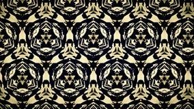 Abstract zwart geel en blauw lijnbehang Stock Afbeeldingen