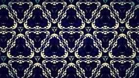 Abstract zwart geel en blauw lijnbehang Stock Fotografie