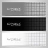 Abstract zwart-wit achtergrondbrochuremalplaatje Stock Fotografie