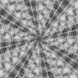 Abstract, zwart-wit asymmetrisch patroon van veren op zwarte royalty-vrije illustratie