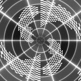 Abstract, zwart-wit asymmetrisch patroon van veren op zwarte vector illustratie