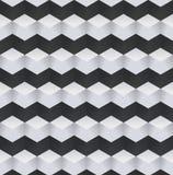 Abstract Zwart-wit 3D Geometrisch Naadloos Patroon Vector illustratie stock illustratie