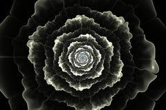 Abstract zwart-wit fractal bloemcomputer geproduceerd beeld Stock Afbeelding