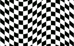 Abstract zwart-wit geruit patroon met vervormingseffect Stock Afbeelding