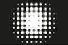 Abstract zwart-wit halftone patroon Grappige achtergrond Royalty-vrije Stock Fotografie