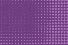 Abstract zwart-wit halftone patroon Grappige achtergrond Gestippelde achtergrond met cirkels, punten, punt Purpere, lilac kleur Royalty-vrije Stock Fotografie