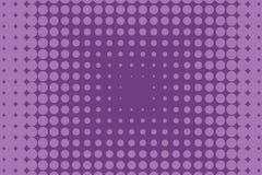 Abstract zwart-wit halftone patroon Grappige achtergrond Gestippelde achtergrond met cirkels, punten, punt Purpere, lilac kleur Royalty-vrije Stock Foto's