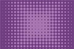 Abstract zwart-wit halftone patroon Grappige achtergrond Gestippelde achtergrond met cirkels, punten, punt Purpere, lilac kleur Stock Foto