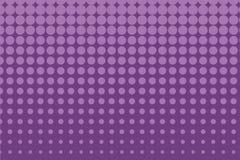 Abstract zwart-wit halftone patroon Grappige achtergrond Gestippelde achtergrond met cirkels, punten, punt Purpere, lilac kleur Royalty-vrije Stock Afbeeldingen