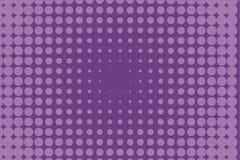 Abstract zwart-wit halftone patroon Grappige achtergrond Gestippelde achtergrond met cirkels, punten, punt Purpere, lilac kleur Royalty-vrije Stock Afbeelding