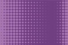 Abstract zwart-wit halftone patroon Grappige achtergrond Gestippelde achtergrond met cirkels, punten, punt Purpere, lilac kleur Stock Afbeeldingen
