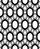 Abstract, zwart-wit naadloos patroon Royalty-vrije Stock Afbeeldingen