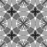 Abstract zwart-wit naadloos patroon Stock Foto