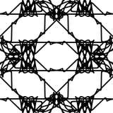 Abstract zwart-wit naadloos patroon Royalty-vrije Stock Foto's