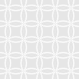 Abstract zwart-wit naadloos patroon in Aziatische stijl met overlappende gestippelde cirkels Royalty-vrije Stock Foto's