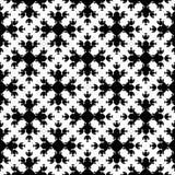 Abstract zwart-wit naadloos patroon, Aziatische stijltextuur Royalty-vrije Stock Foto's
