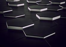 Abstract zwart-wit ontwerp als achtergrond 3d geef terug Stock Afbeeldingen