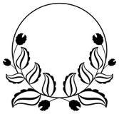 Abstract zwart-wit ornament met decoratieve bloemen Het art. van de roosterklem Stock Afbeeldingen