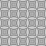 Abstract zwart-wit patroon met mozaïek van vervormde vierkanten van Royalty-vrije Stock Fotografie