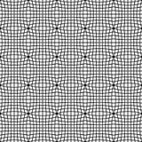 Abstract zwart-wit patroon met mozaïek van vervormde vierkanten van Royalty-vrije Stock Afbeelding