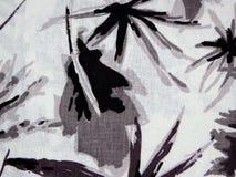 Abstract zwart-wit patroon op de stof Royalty-vrije Stock Afbeelding