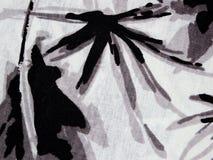 Abstract zwart-wit patroon op de stof Royalty-vrije Stock Fotografie