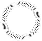 Abstract zwart-wit spiraalvormig ontwerp stock illustratie