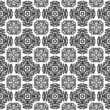 Abstract zwart-wit vectorpatroon Stock Foto