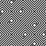 Abstract Zwart-wit Zigzag Vector Naadloos Patroon Stock Foto's