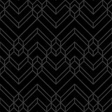 Abstract Zwarte & Gray Dark Chevron Geometric Pattern Stock Illustratie