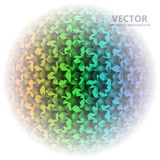 AbstractBackground19. Black stars in the form of a ball on the colored background. Vector illustration Stock Photo