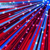 AbstractBackground27. Bright abstract rays and flashes on the red background Royalty Free Stock Image