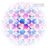 AbstractBackground15. Colored hexagons in the form of a ball on the white background Stock Photo