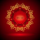 AbstractBanner. Red abstract banner made of flower rings. Vector illustration Royalty Free Stock Photos