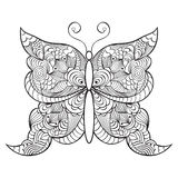 Abstractbutterfly on white background Stock Image