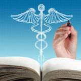Abstractcaduceus sign Stock Photo