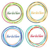 AbstractCircle-06. Set of colorful abstract vector circles. Vector banners and design elements Stock Photo