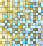 Abstracte 3d achtergrond in geel blauw Royalty-vrije Stock Afbeeldingen