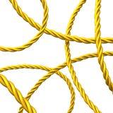 Abstracte 3d achtergrond van gouden kabel stock illustratie