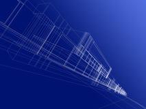 Abstracte 3D bouw Stock Afbeeldingen